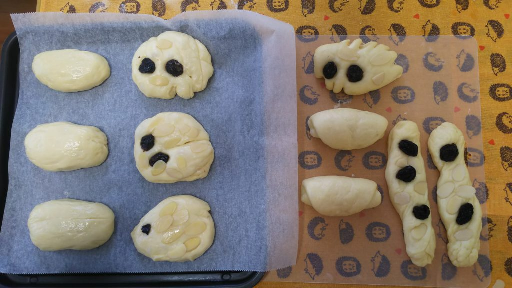 子供とホームベーカリーでパン作り・成形