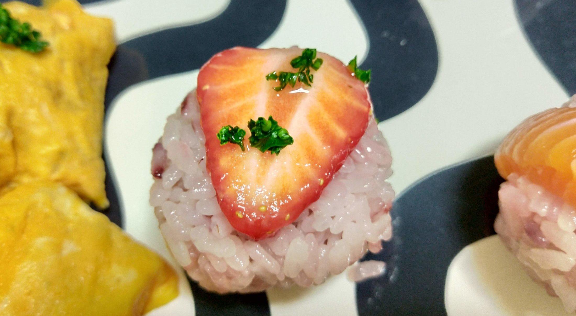 いちごの手まり寿司その2