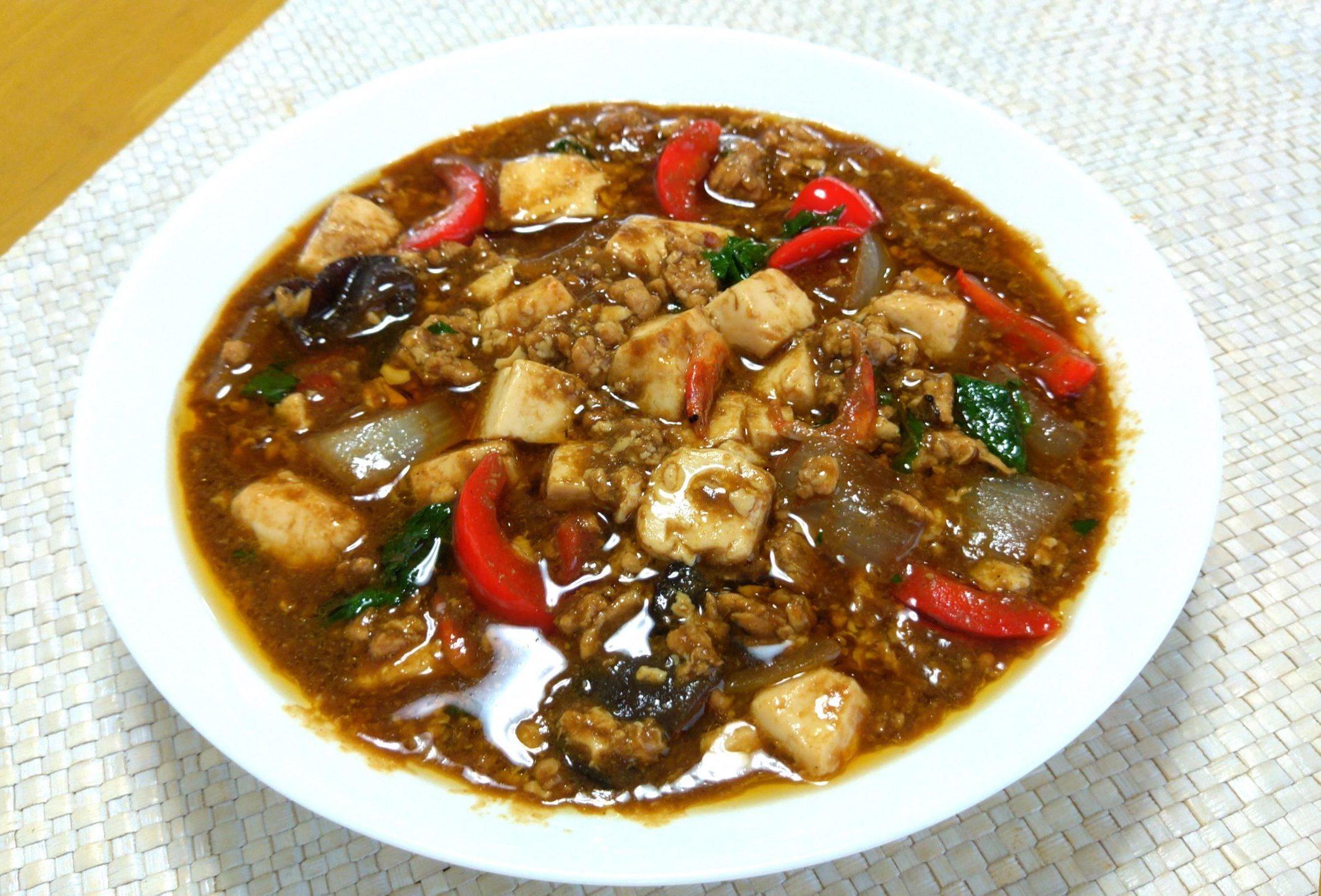 鶏ひき肉スパイシーマーボー豆腐