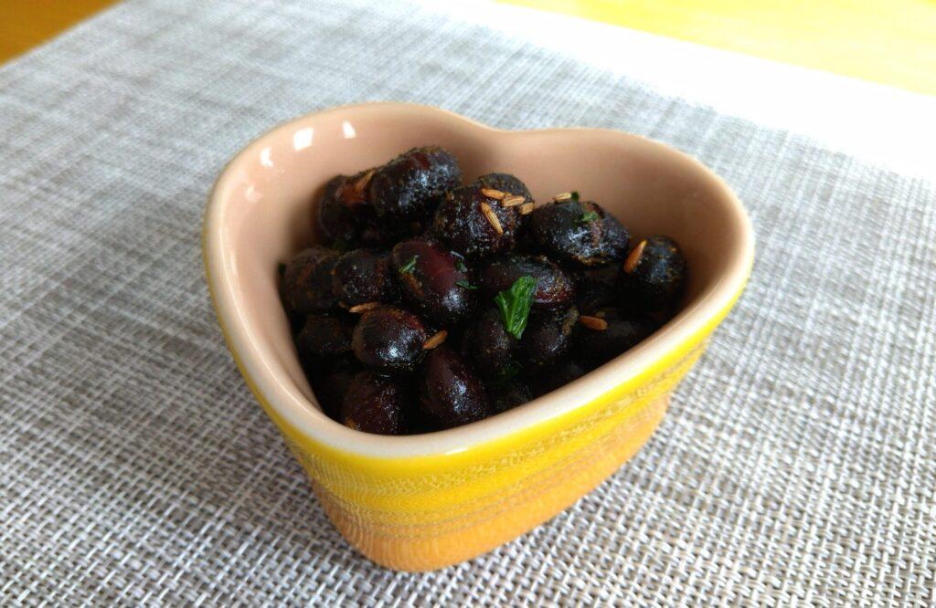 黒豆のカレー炒め