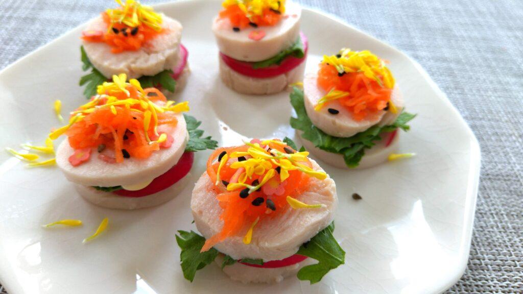 【鶏ハム(サラダチキン)アレンジ】ヘルシーな春のオードブルのレシピ