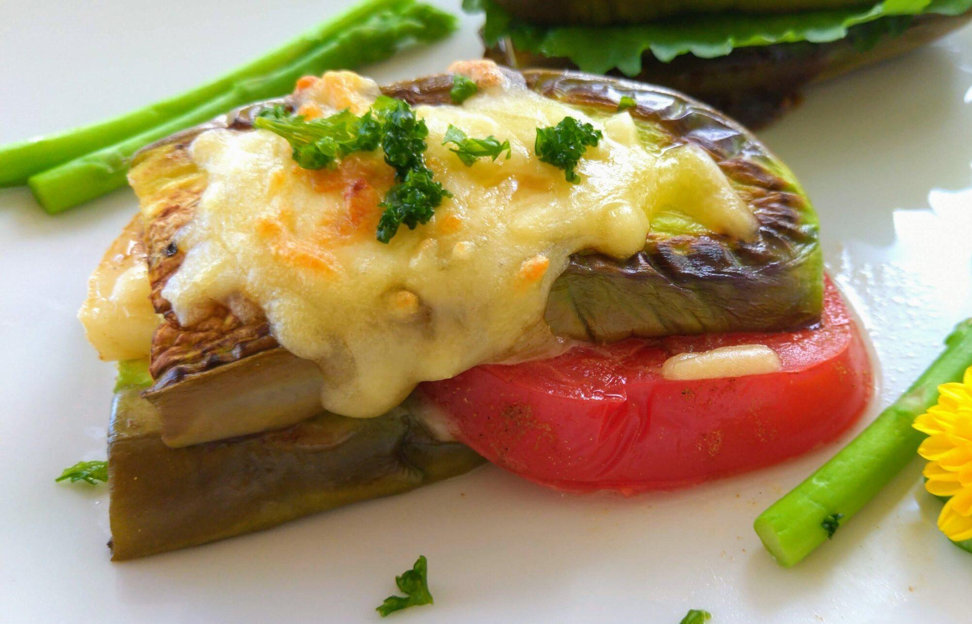 ナスサンドカマンベールチーズ&トマト