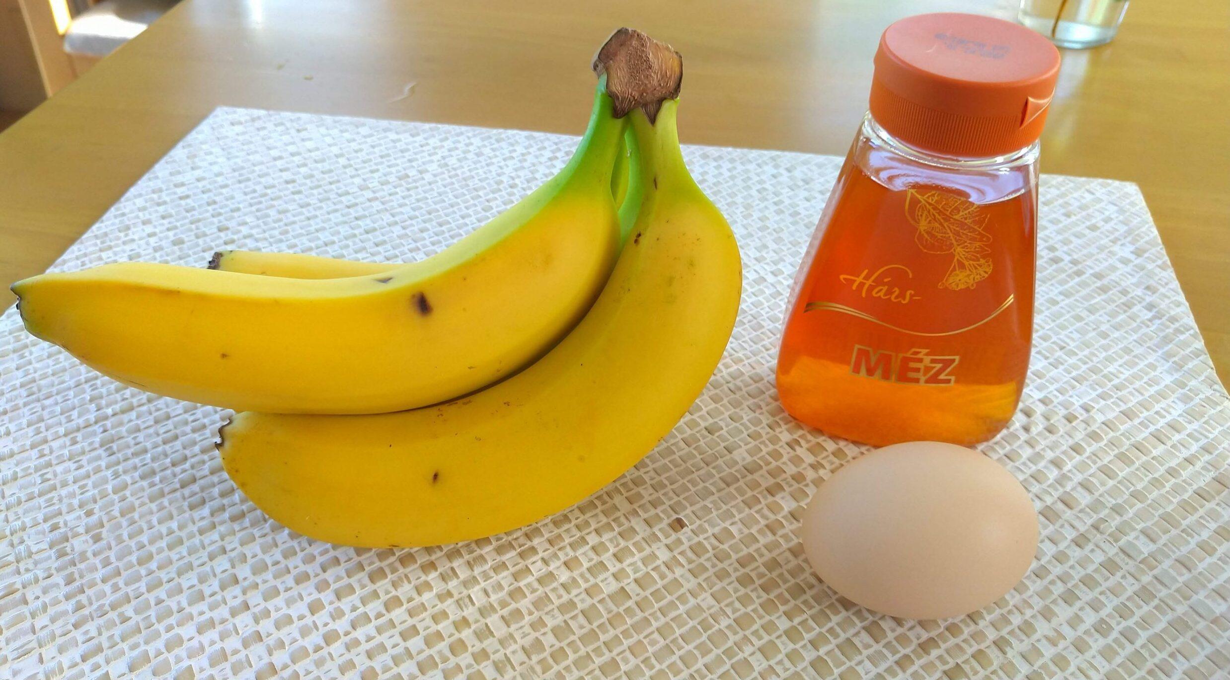 バナナジュース材料